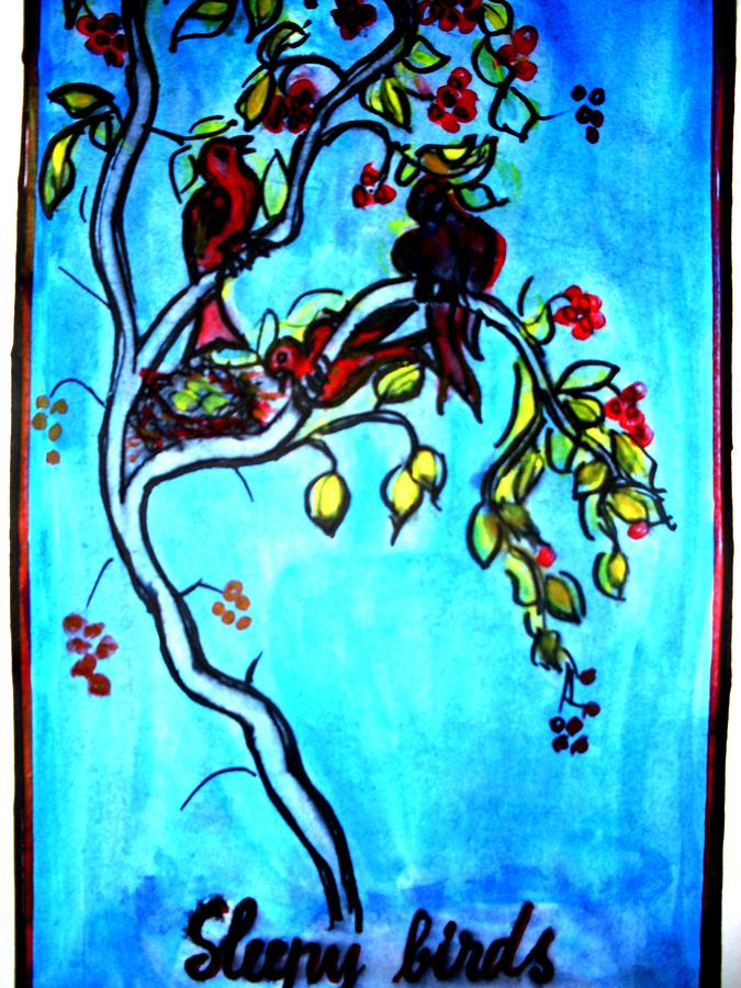 Landscape Painting - Illustration Of Eminescu S Poem by Elena Buftea