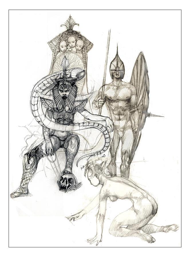 Illustration Drawing - Illustration by Pabdi Robert