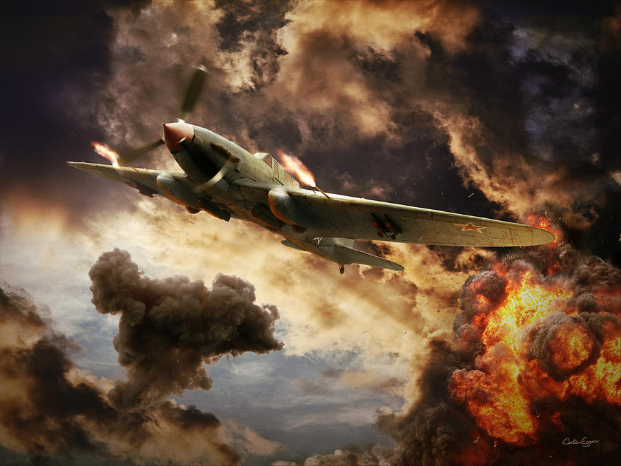 Ilyushin Digital Art - Ilyushin Il-2 by Anton Egorov