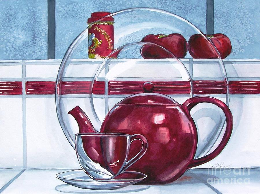 Teapot Painting - Im A Little Teapot by Jane Loveall
