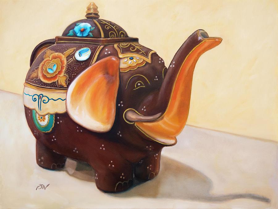 I'm a Little Teapot - Original Oil Painting by Darla Nyren