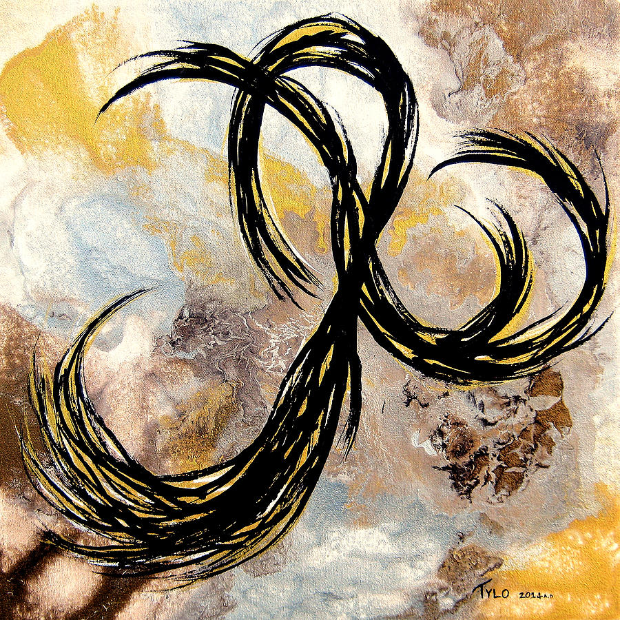 Contemporary Abstract Painting - Im A Slave 4 U by Tylo Jacobs