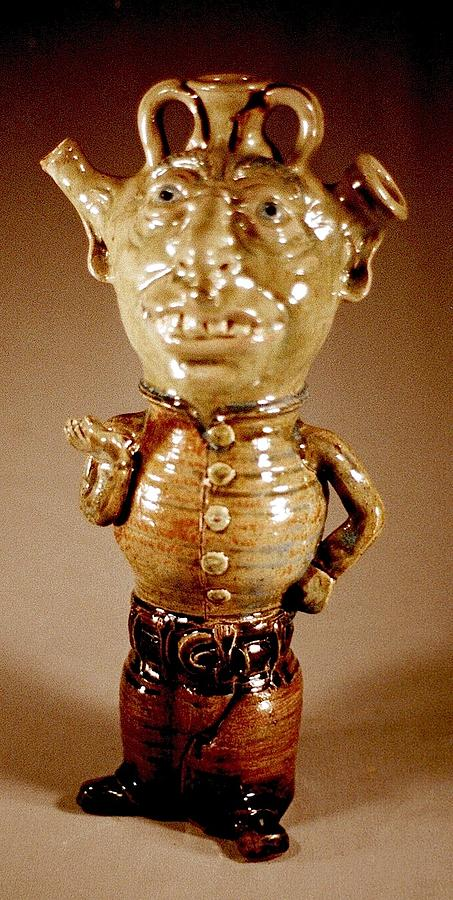Wood Fired Stoneware Ceramic Art - Im Alittle Teapot by Stephen Hawks