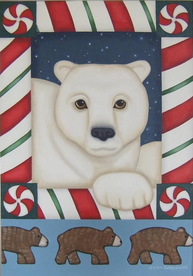 Polar Bear Painting - Im Dreamin by Arlene Salamendra
