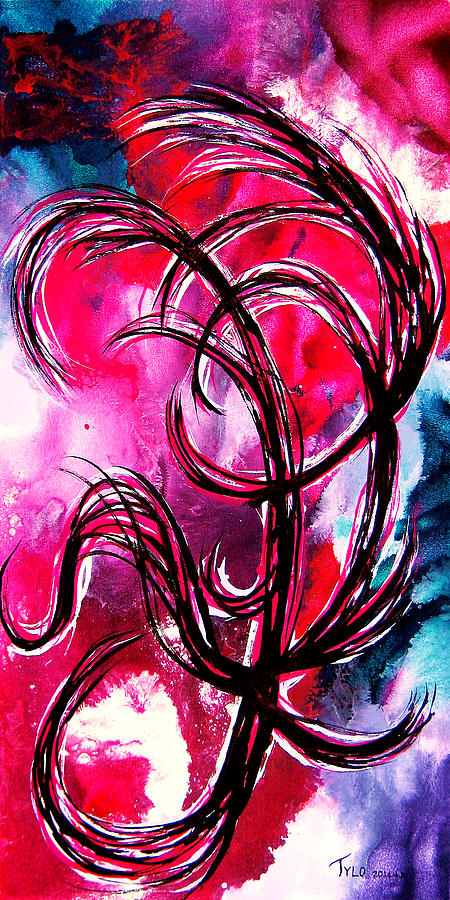 Contemporary Abstract Painting - Im Flammable Im Tnt Light It Up by Tylo Jacobs