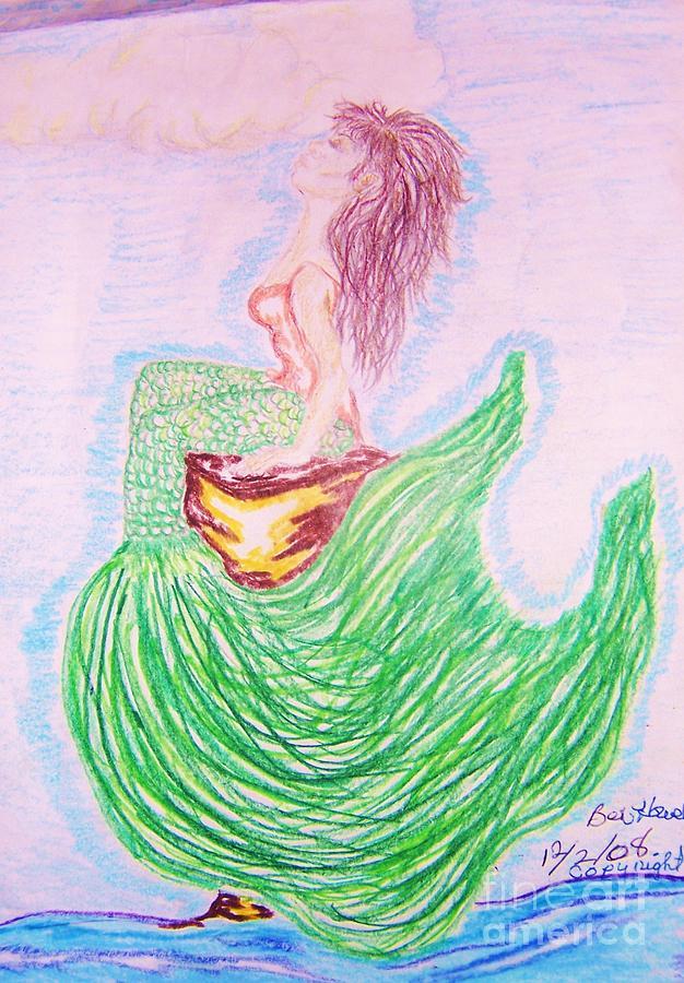 Mermaid Greeting Card - Im Free by Beverly Howell