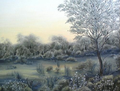 Landscape Painting - Im Moor by Haike Espenhain