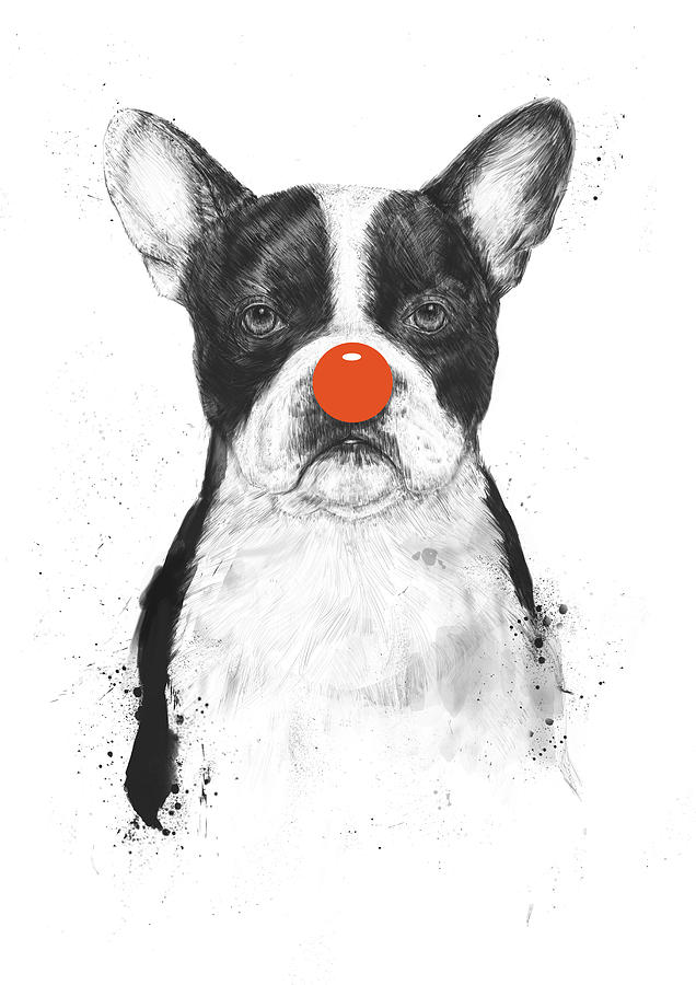 Dog Mixed Media - Im not your clown by Balazs Solti