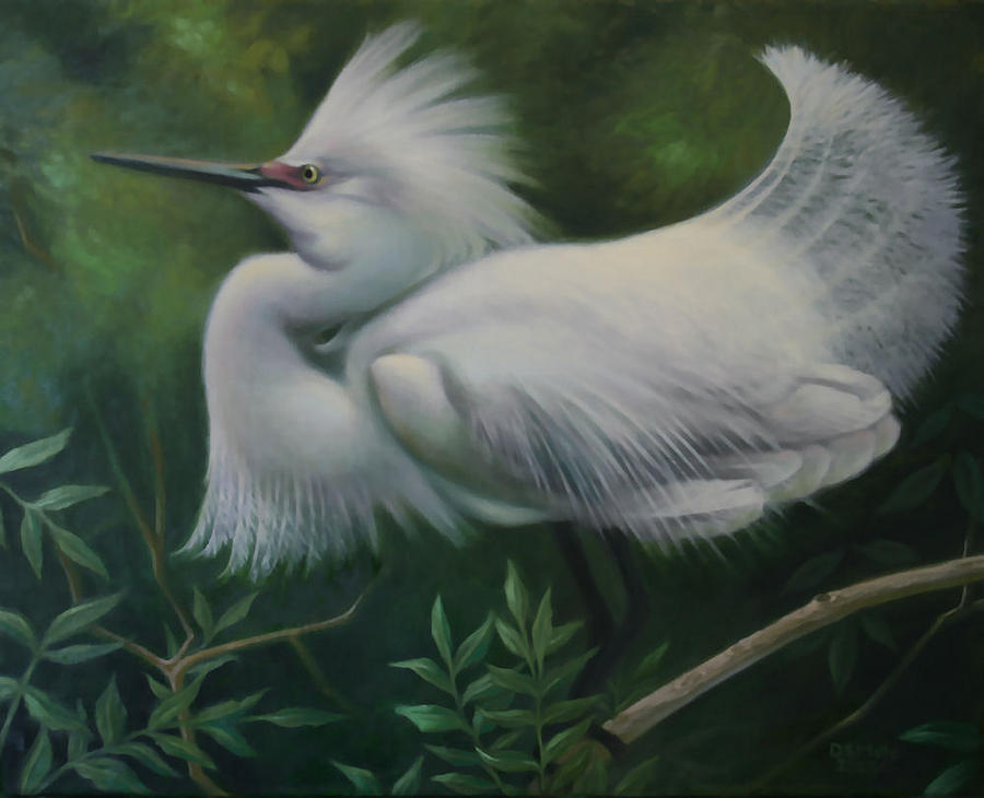 Wildlife Painting - Im Too Sexy For My Feathers by Dan Mills