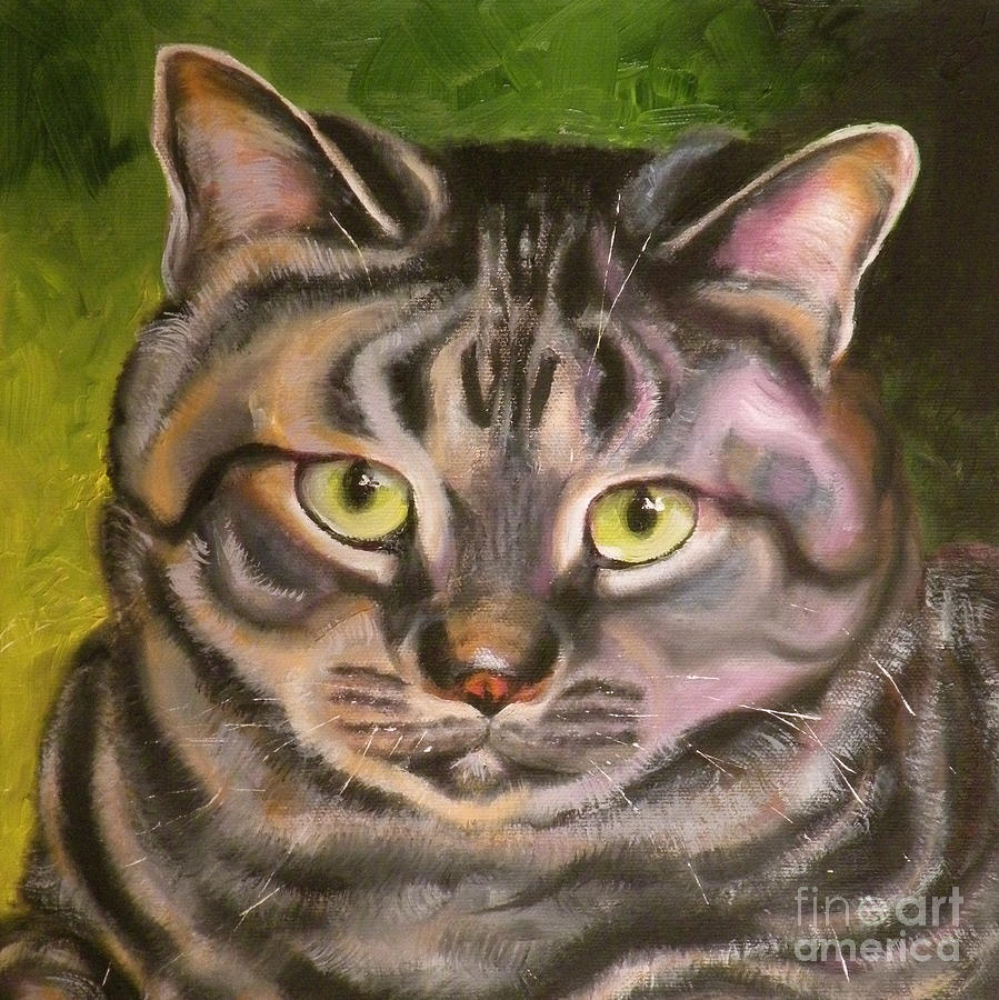 Cat Painting - Im Your Man Tabby by Susan A Becker