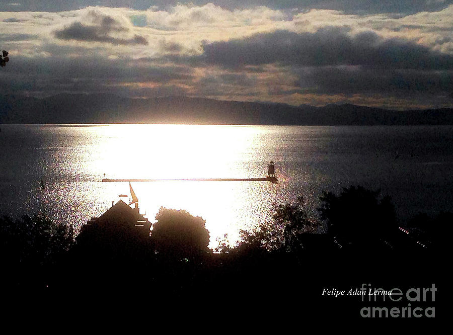 Novel Photograph - Image Included In Queen The Novel - Lighthouse Contrast by Felipe Adan Lerma