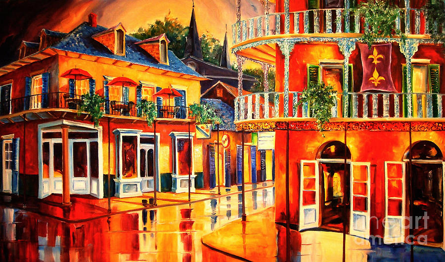 New Orleans Painting - Images of the French Quarter by Diane Millsap