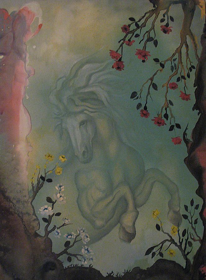 Flowers Painting - Imaginary Horse by Vasilis Bottas