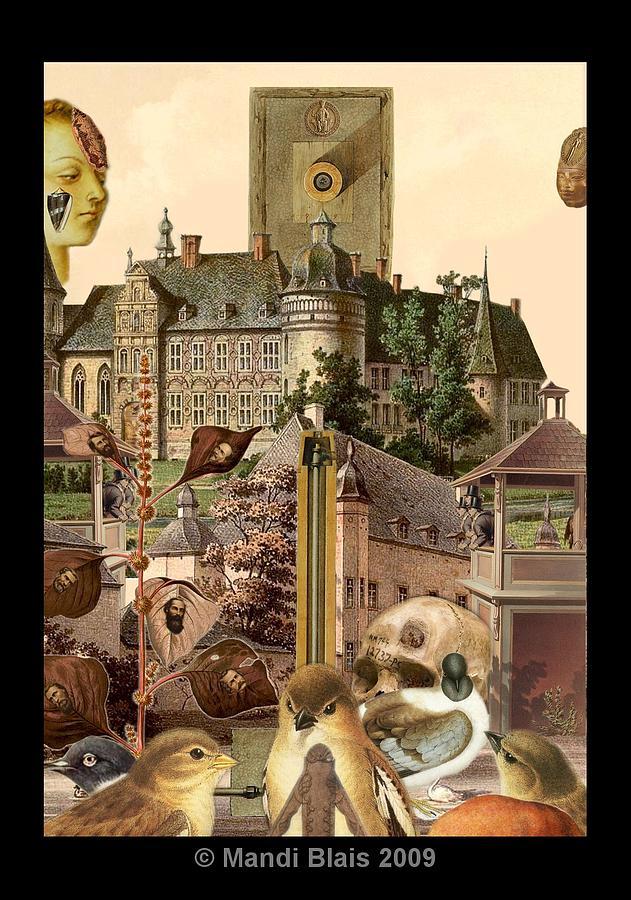 Digital Collage Digital Art - Imaginary Postcard  3 by Mandi Blais