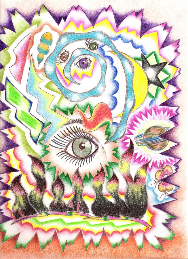 Abstract Drawing - Imagination And Color by Aimee Ley