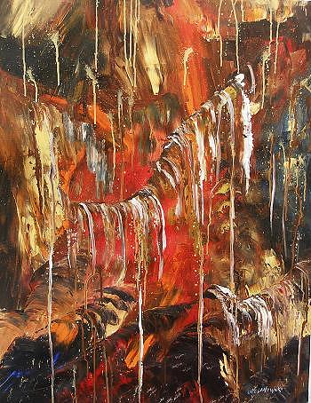 Abstract Painting - Imagination by Miroslaw  Chelchowski