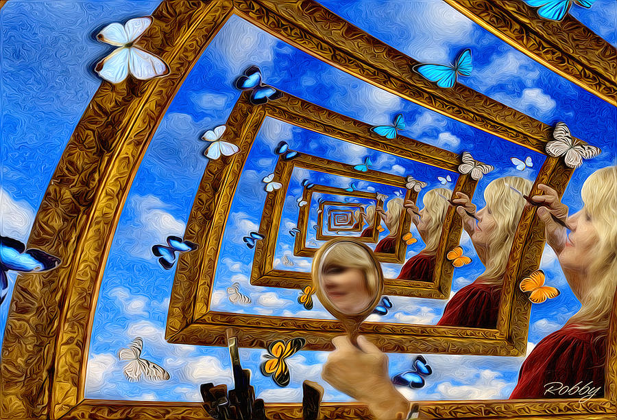 Droste Painting - Imaginations by Robby Donaghey