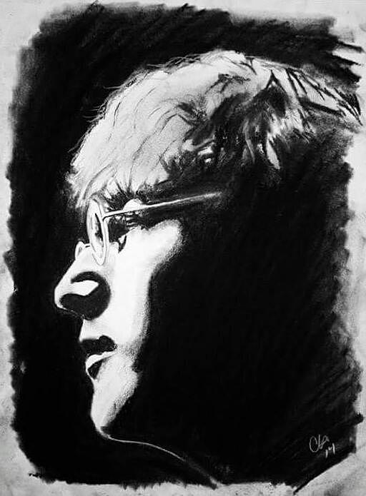 John Lennon Drawing - Imagine by Carole Hutchison
