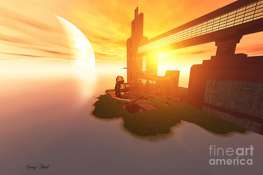 Architecture Painting - Imagine by Corey Ford