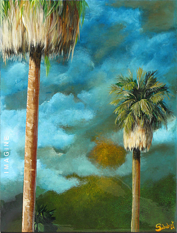 Palm Trees Painting - Imagine by Stephen Schubert