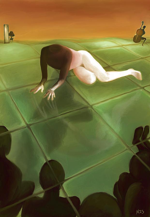 Imago Painting - Imago The Watching by Ari Rudenko