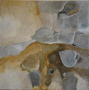 Abstract Landscape Painting - Imbrication by Judith Grunberger