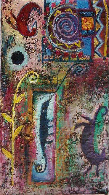 Tribal Painting - Imitating The Wind by Jacob  Wachira Ezigbo