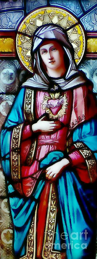 Immaculate Heart Of Mary Photograph - Immaculate Heart Of Mary by Elizabeth Duggan