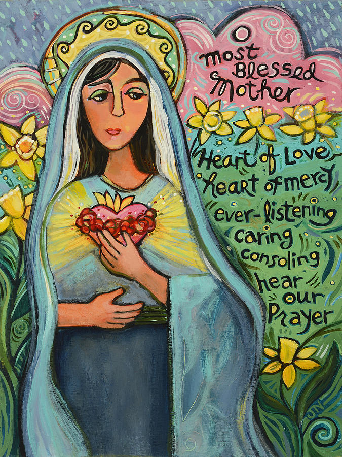 Immaculate Heart Painting - Immaculate Heart of Mary by Jen Norton