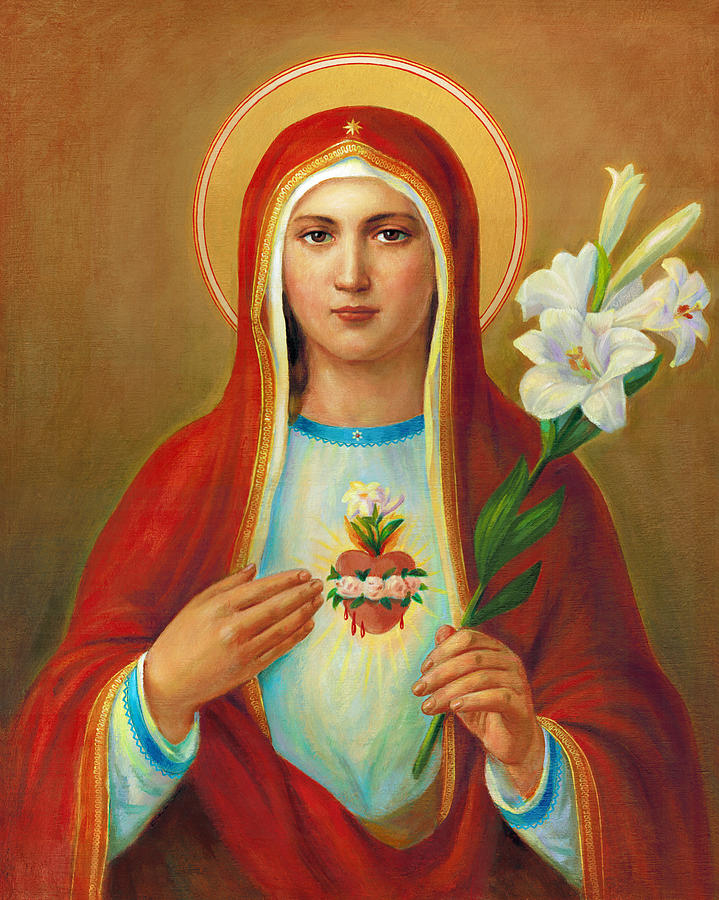 Immaculate Heart Of Mary Painting By Svitozar Nenyuk