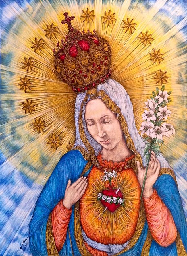 Virgin Mary Photograph - Immaculate Heart Of Virgin Mary by Kent Chua