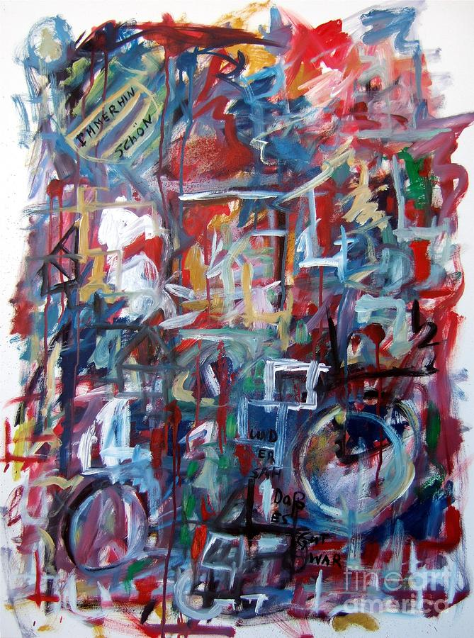 Abstract Painting - Immerhin Schoen by Michael Henderson