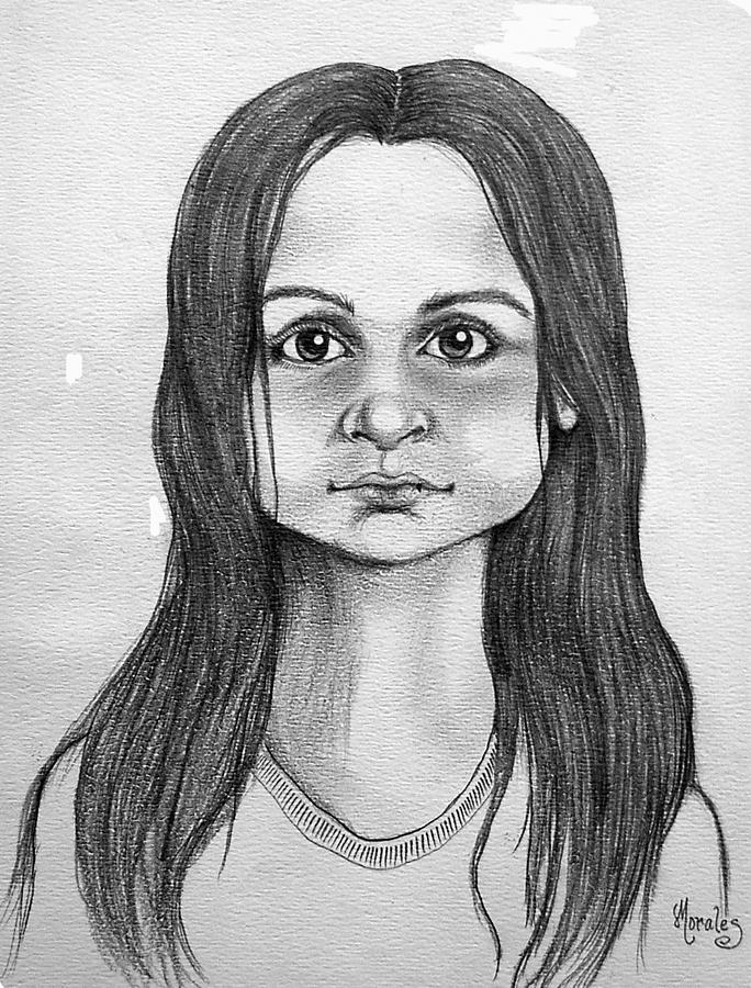 Portrait Drawing - Immigrant Girl by Marco Morales