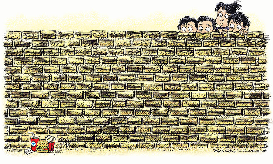 Immigrant Kids at the Border by Daryl Cagle