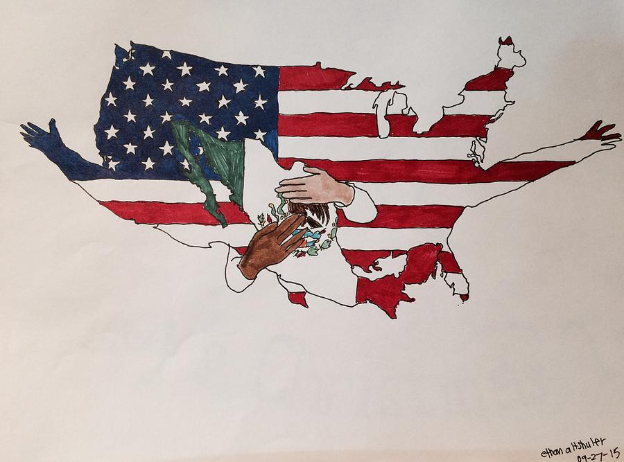 America Drawing - Immigration by Ethan Altshuler