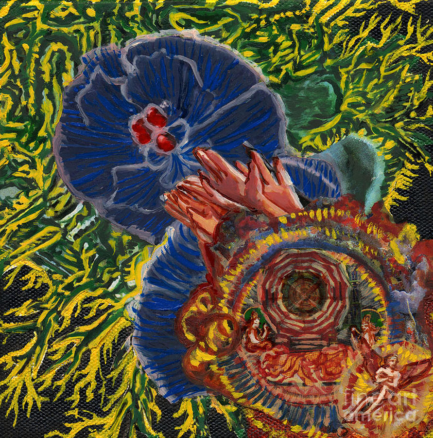 Human Painting - Immunity Activation Microbiology Landscapes Series by Emily McLaughlin