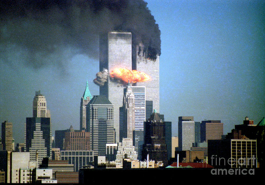 9/11 Photograph - Impact Tower 2 by Mark Gilman