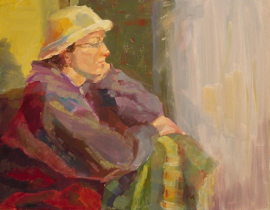Figurative Painting - Impatient Rain by Irena  Jablonski