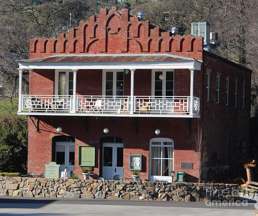 Gold Rush Town Photograph - Imperial Hotel Amador City by Anthony Forster