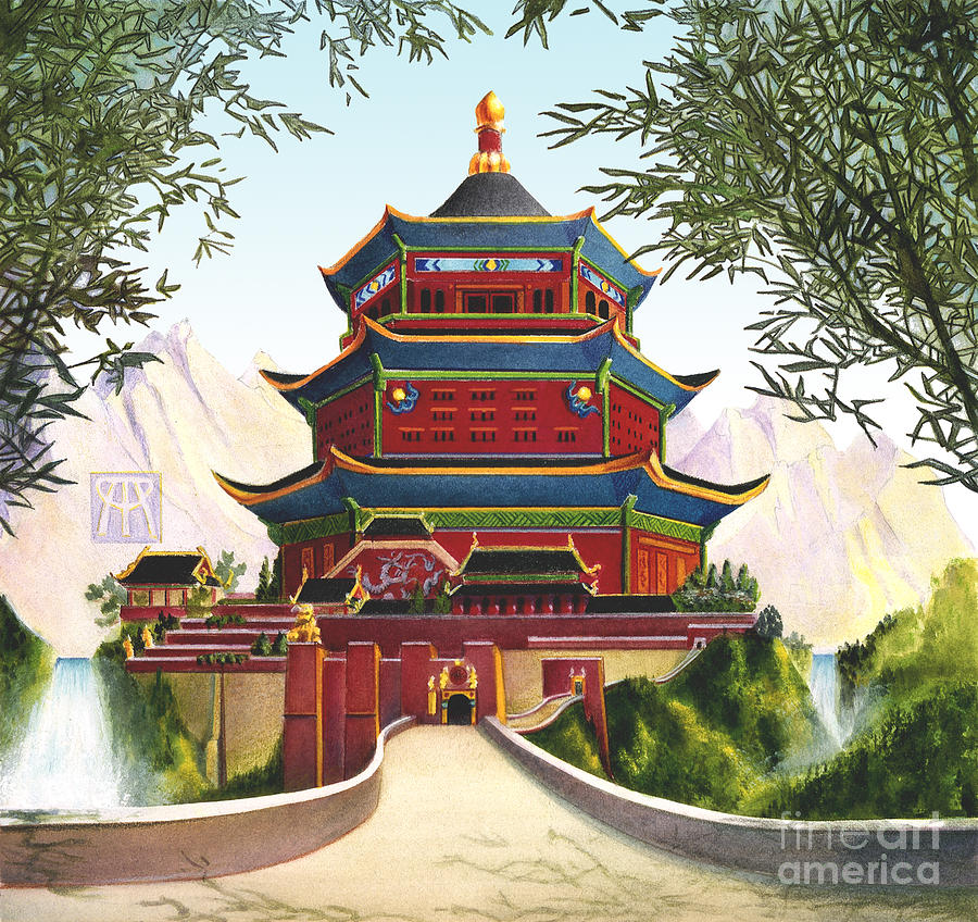 Oriental Mixed Media - Imperial Palace by Melissa A Benson
