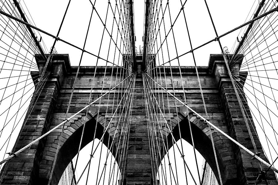 Brooklyn Bridge Photograph - Imposing Arches by Az Jackson