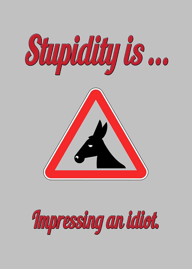 Funny Digital Art - Impressing Bigstock Donkey 171252860 by Mitchell Watrous