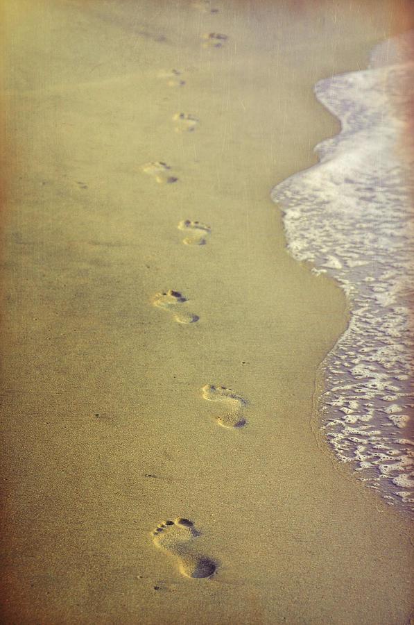 Beach Photograph - Impression Imprints by JAMART Photography