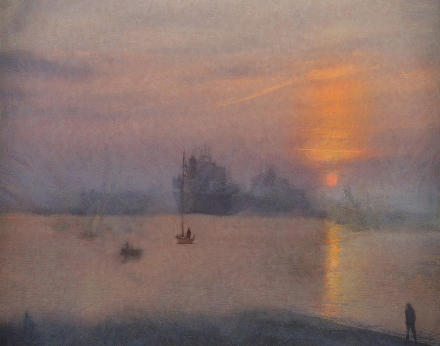 Impression Solent Leviathans by William Sargent
