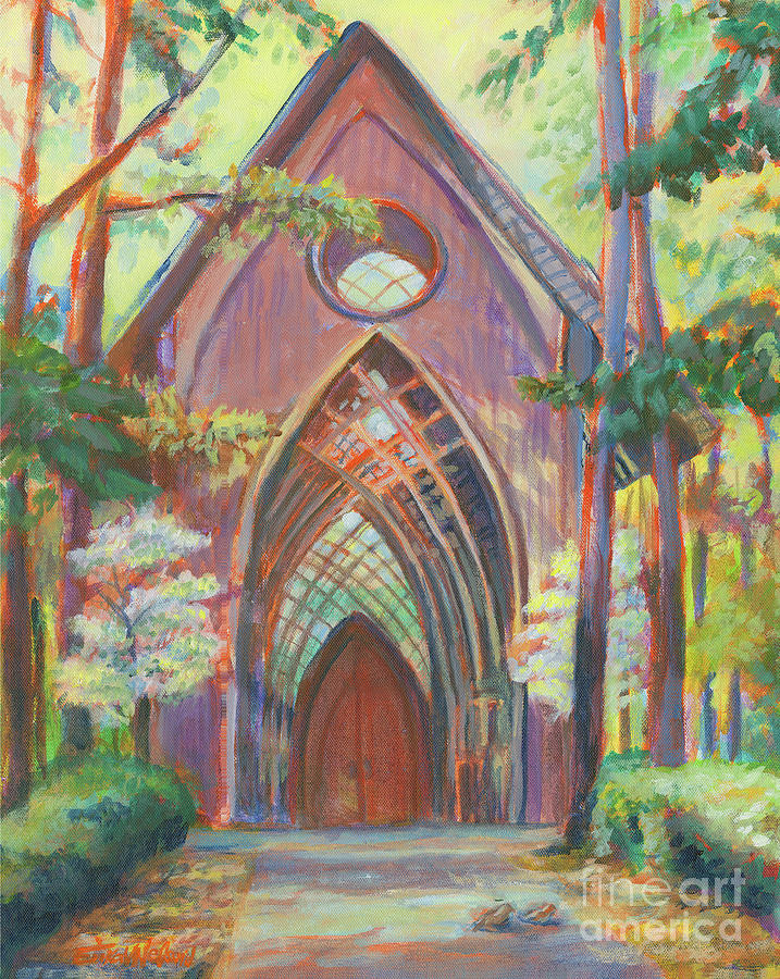 Chapel Painting - Impressionist Cooper Chapel by Erika Nelson