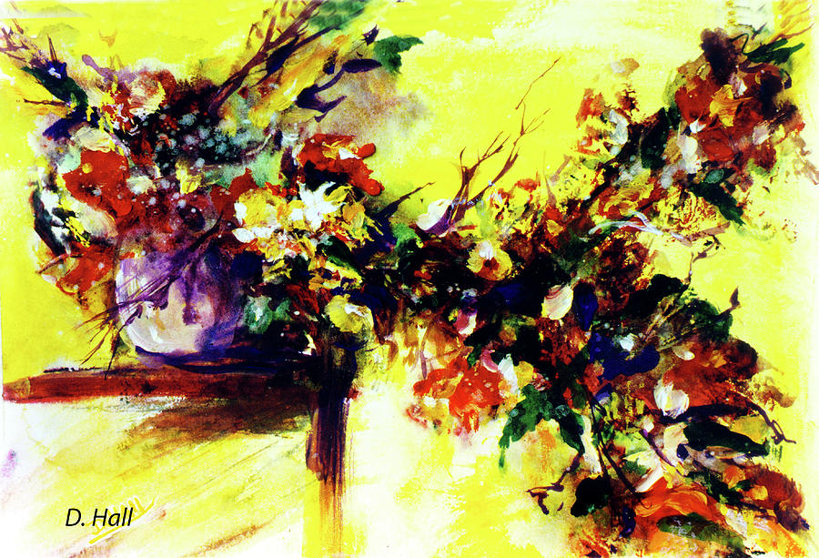Hawaii Artist Painting - Impressionist Flowers #112, by Donald k Hall