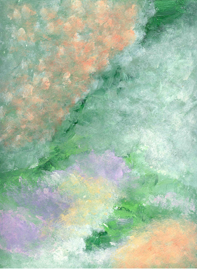 Abstract Painting - Impressionistic Landscape by Helene Henderson
