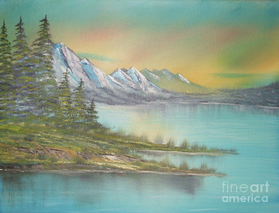 Bob Ross Painting - Impressions In Oil - 4 by Bill Turck