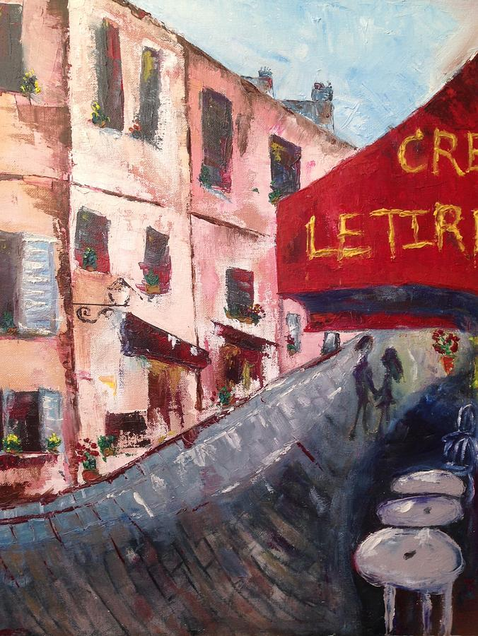 Paris Painting - Impressions of a French Cafe by Roxy Rich