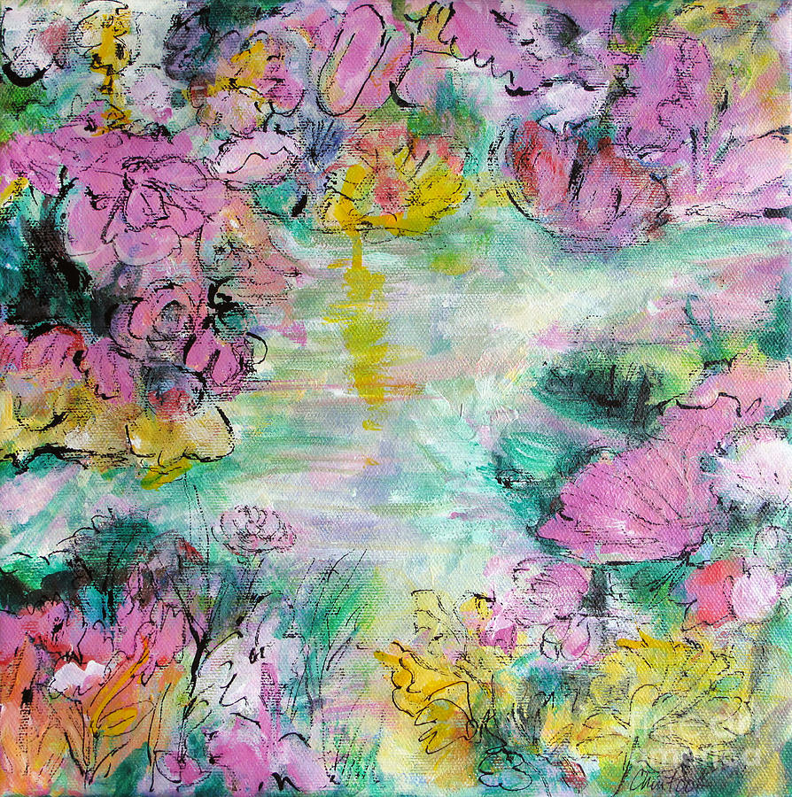 Abstract Florals Mixed Media - Impressions Of Spring by Christine Chin-Fook